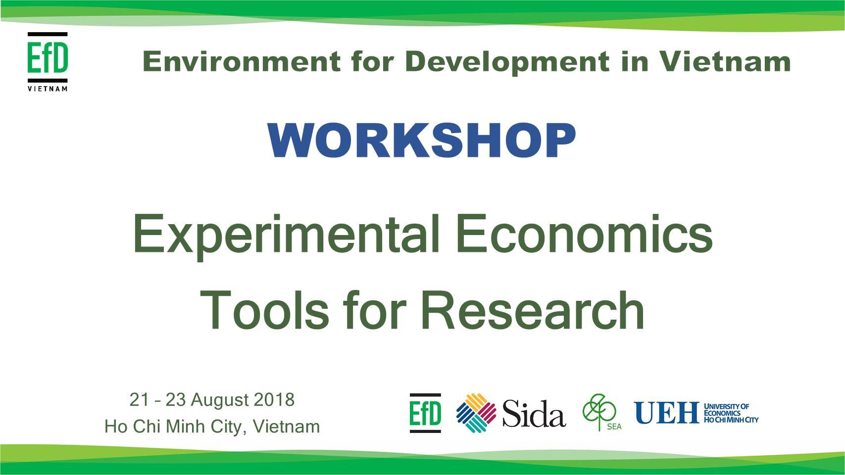 Khóa học: Kinh tế học thí nghiệm - Công cụ cho nghiên cứu