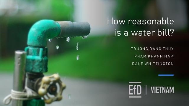 Hóa đơn tiền nước đã thực sự hợp lý?